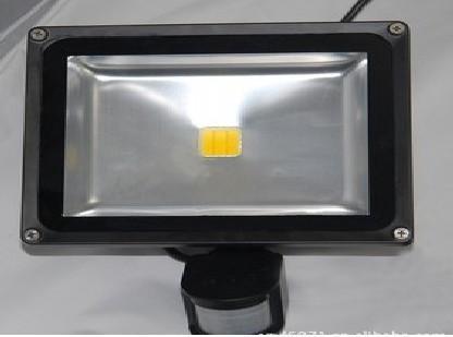供应10W人体感应LED红外泛光灯 LED泛光灯  10W泛光灯