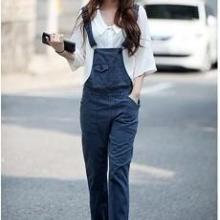 供应最流行韩版流行牛仔背带连体裤