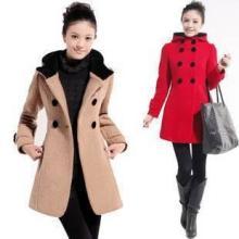 供应冬装羊毛呢大衣风衣时尚高档外套