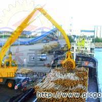 供应八达重工双动力履带式木材卸车机