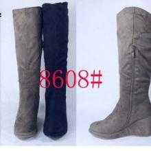 供应外贸库存高筒坡绒面时尚流行女棉靴