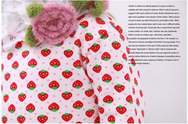 图案 草莓/供应草莓图案珊瑚绒加厚儿童保暖内衣图片