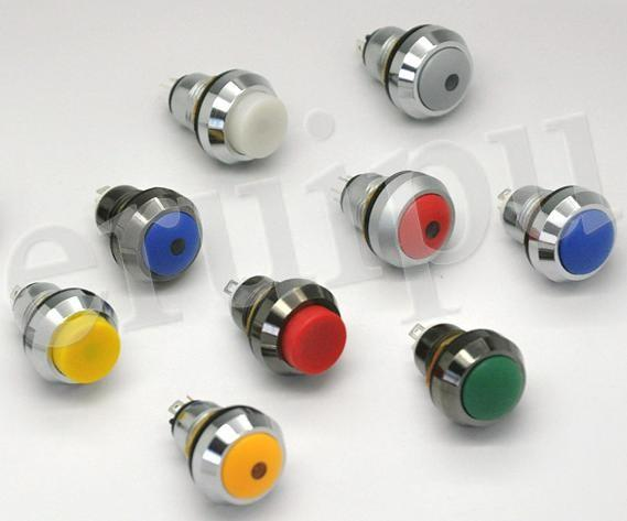 供应按钮开关防水带灯金属按钮开关4126系列