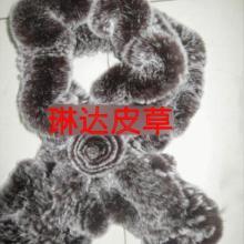 供应兔毛荷叶边围巾獭兔毛围巾韩版围巾