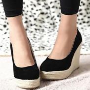 厚底鞋欧美高跟坡跟鞋2012春季新图片