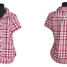 供应厂家直销短袖格子衬衫韩版女装批发外贸尾单低价处理批发
