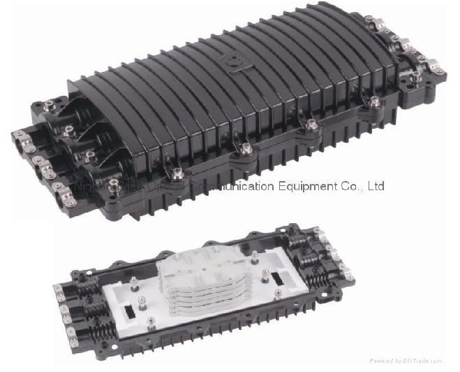 卧式24芯光缆接续盒/ABS三进三出帽式光缆接头盒/塑料光缆接头盒
