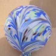 玻璃花纹球图片