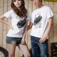 2012最便宜的厂家情侣装T恤批发图片
