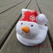 圣诞雪人珊瑚绒婴儿保暧学步鞋图片