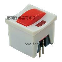 供应仪器仪表按键开关带灯不带灯或自锁PB系列宏利源按键开关批发