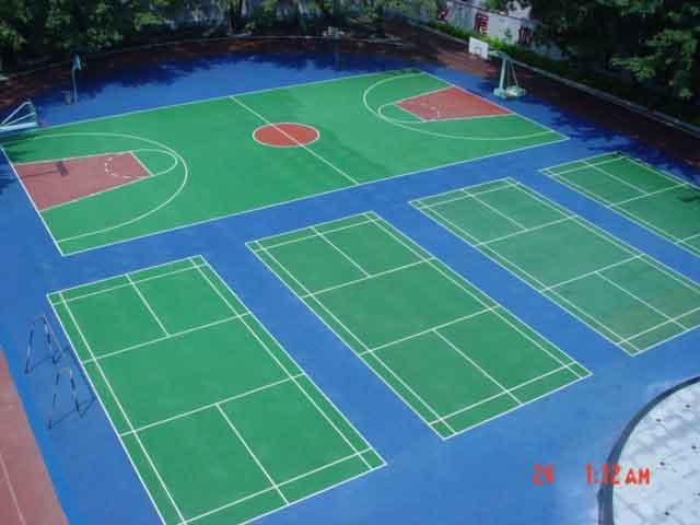 供应渝北区篮球场场地施工图片