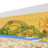 合川区浸塑攀岩墙图片