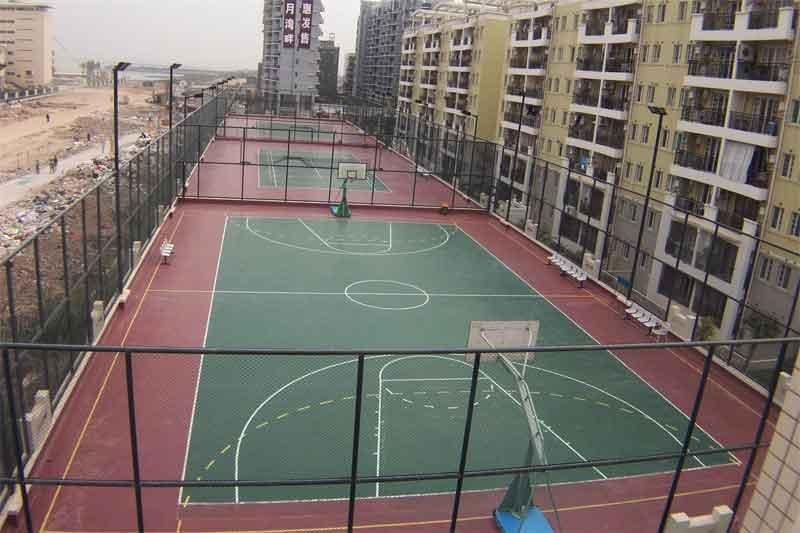 重庆黄浦地产篮球场地施工单位,北碚区羽毛球场 施工,合川区硅PU球场