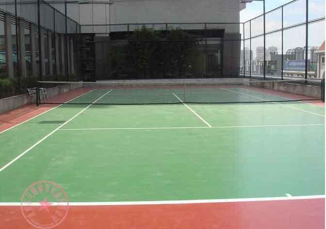 供应重庆篮球场场地施工图片