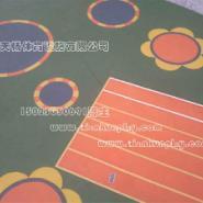 江北区幼儿园彩色塑胶地面图片