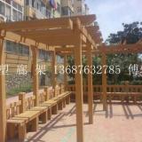 供应青岛木塑廊架生产加工