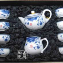 供应青花山水茶具-青花瓷套装茶具批发