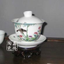 供应茶具-花鸟茶具-粉彩套装茶具图片