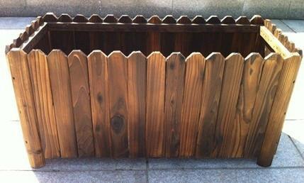 木栅栏片-供应营口市防腐木围栏厂,碳化木围栏,实木围栏生产 图   防腐碳化木
