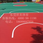 广州蓝羽球场油漆施工图片