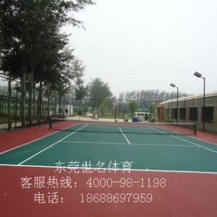 网球场刷彩色漆图片
