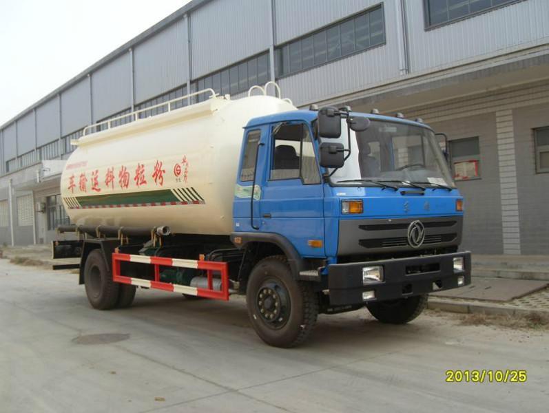 供应东风16-18方粉粒物料运输车,国四单桥散装水泥车,20吨散装水泥车多少