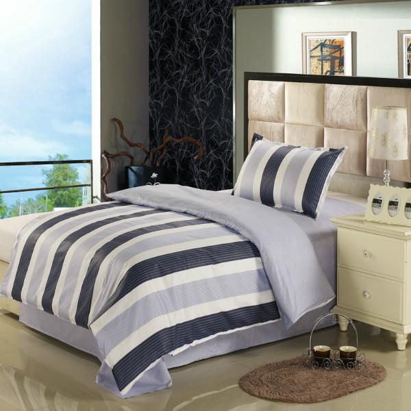 学生床上纯棉三件套被套床单枕套各种规格花色可定做