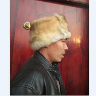 獾皮帽子羊皮帽子狗皮帽子皮毛一体图片