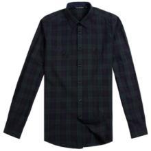 中山外贸厂家供应纯棉男装格子衬衣 磨毛格子衬衫定制