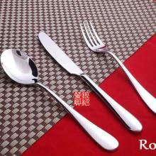 亚可西餐厅中档系列不锈钢西餐刀叉勺 不锈钢摩卡勺批发