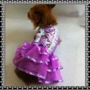 紫色波点宫廷装婚纱礼服图片
