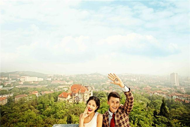 青岛海景特色婚纱照 台东性价比最高的的摄影工作室 青岛芒果