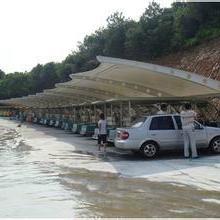 供应杭州白色车棚,杭州白色膜结构车棚钢结构车篷