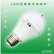 供应厂家直销LED负氧离子生命灯 空气净化节能灯 LED一度神灯 批发