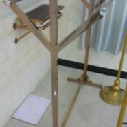 玫瑰金双杆衣架展示架不锈钢加粗加图片