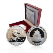2014版中国熊猫银币图片