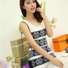 供应新款韩版女装针织背心#894(钩花镂空无袖低圆领)