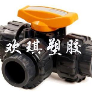 供应l型三通球阀-pvc塑料三通球阀 l型三通球阀-pvc塑料三通球阀批发图片