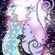 钻石画紫森林的猫咪D294图片