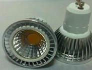 压铸铝COB射灯GU10灯头5W图片