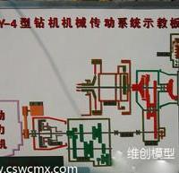 XY-4型钻机机械传动系统示教板