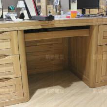 俄罗斯榆木书桌 带柜子书桌 100纯实木