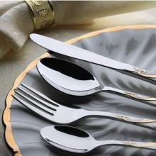 供应优质不锈钢镀金喷沙刀叉勺餐具批发