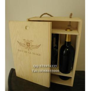 红酒盒双支木制酒盒带酒具红酒木盒图片