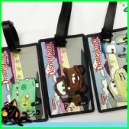 可爱卡通人物环保PVC行李牌图片