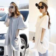 韩国代购女娃娃裙衫露背短袖图片