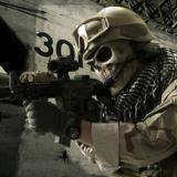 供应酋长正品M02骷髅全脸防护面具