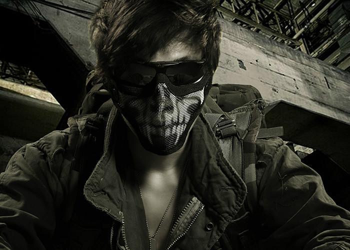 供应酋长正品CM01钢网防护面具