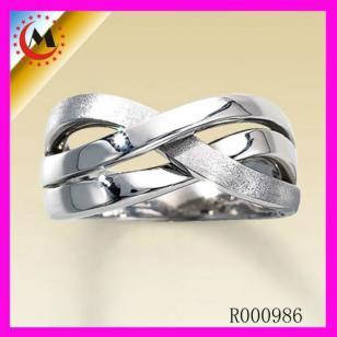 正品情侣戒指女创意925纯银对戒指图片